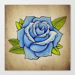 Blue Rose - Tattoo Artwork Canvas Print
