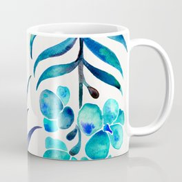 Blooming Orchid – Navy & Turquoise Palette Coffee Mug