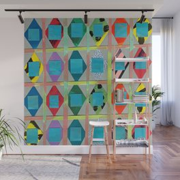 Diamonds and Squares Wall Mural