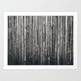 dark vertical wood Art Print
