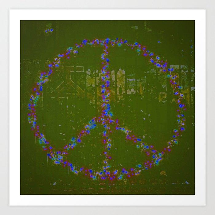 Peace B Wit U Art Print
