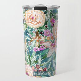 Teal MAUI MINDSET Colorful Tropical Floral Travel Mug