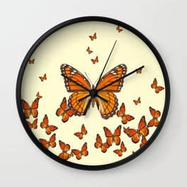 MONARCH BUTTERFLY SWARM Wall Clock