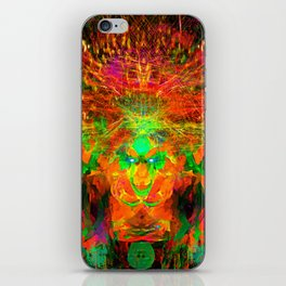 The Flying Shaman (Tribal Zest) iPhone Skin