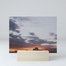 sunset sky Mini Art Print