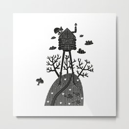 fairy house in the forest Metal Print