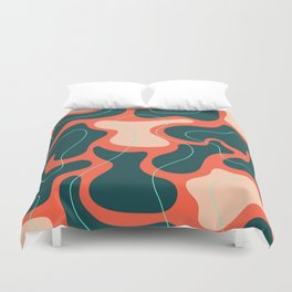 Tectonic Plates Jostled Gently for a Prime Position Duvet Cover