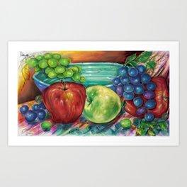Fruit with Bowl Art Print
