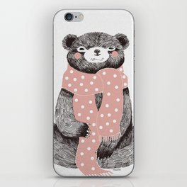 OSO, the bear with the big scarf.  iPhone Skin