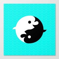 Yin Yang Dolphins Canvas Print