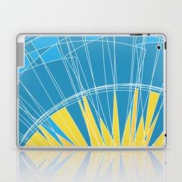 Abstract pattern, digital sunrise illustration Laptop & iPad Skin