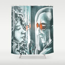 Freeze watching his frozen love Shower Curtain