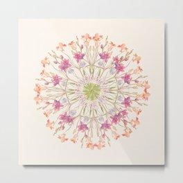 Floral endeavour- Mandala Metal Print