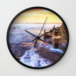 Lonas planet evening sea Wall Clock