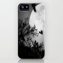 Haunting Moon & Trees iPhone Case