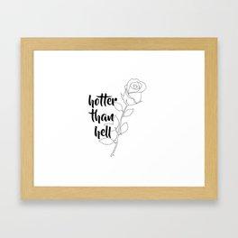 dua lipa: rose Framed Art Print