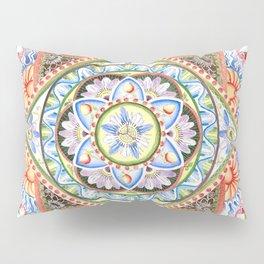 Passion Flower Mandala Pillow Sham