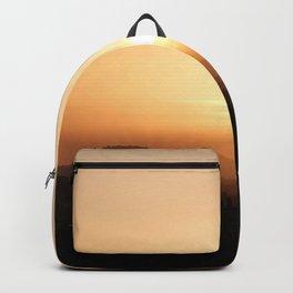 sunset dusk sun horizon evening Backpack