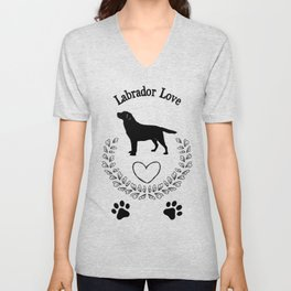 Labrador Love Unisex V-Neck
