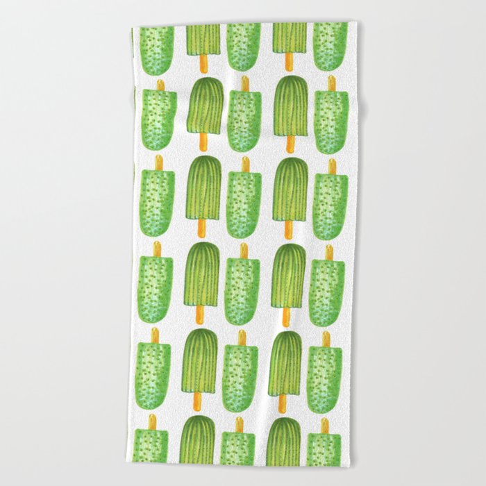 eb5365fb4171 Cactus Popsicles Pattern  society6  decor  buyart Beach Towel by designdn