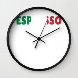 Italy espresso coffee gifts flag Wall Clock