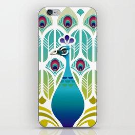 Indian Blue Peacock [Pavo Cristatus] iPhone Skin