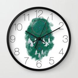 Classic Dreamcatcher 2: Green background Wall Clock