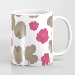 seamless   pattern of geranium flowers . Endless texture Coffee Mug