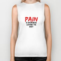 pain Biker Tanks featuring Pain by Spooky Dooky
