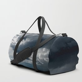 Dramatic Sky - Rain Clouds Dark Gray Blue Monochrome #decor #society6 #buyart Duffle Bag