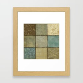 9 box Framed Art Print