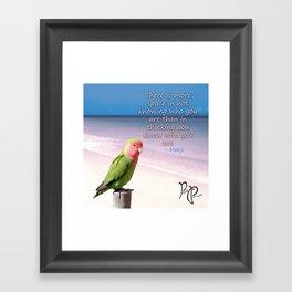 """Posh Parrot - """"Space"""" Framed Art Print"""