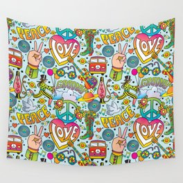 Peace&Love Wall Tapestry