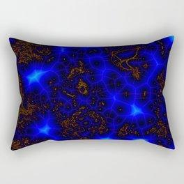 Blue Lightning Abstract Rectangular Pillow