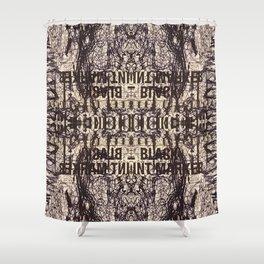 Black Int Marker Shower Curtain