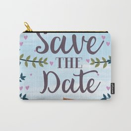 Save the Date Deck chair and beach Carry-All Pouch