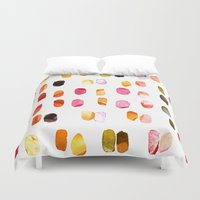 aelwen Duvet Covers featuring strokes of colors by clemm