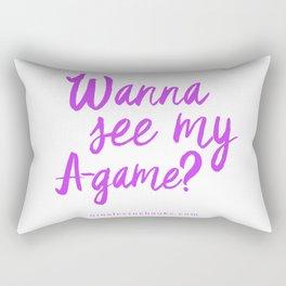 Wanna See My A-Game? Rectangular Pillow