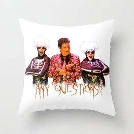 David S. Pumpkins - Any Questions? Throw Pillow