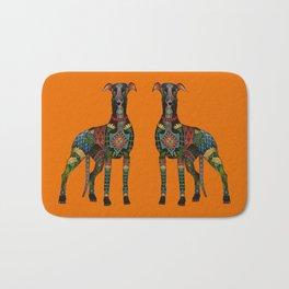 greyhound orange Bath Mat