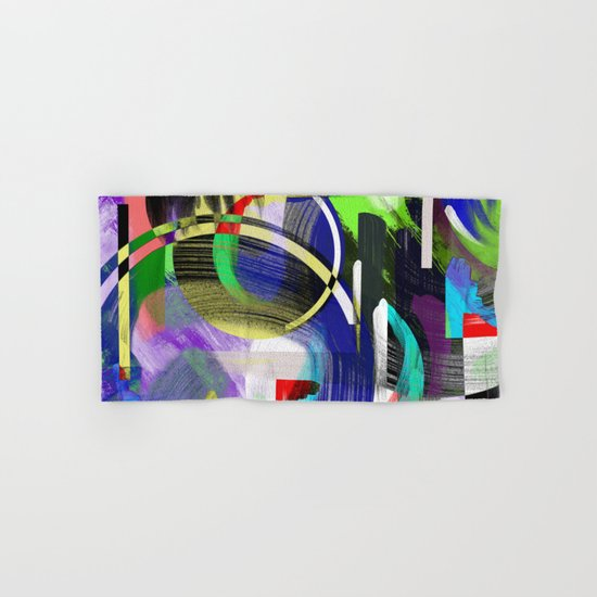 Try To Make Sense Of It All - Random, geometric, eclectic, abstract, colourful art Hand & Bath Towel