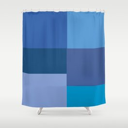 Blue Squares  Shower Curtain