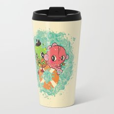 The Pond Lovers - Mr. Froggy and Ms Goldfish Travel Mug