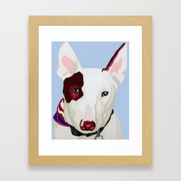 Archie the Bull Terrier Framed Art Print