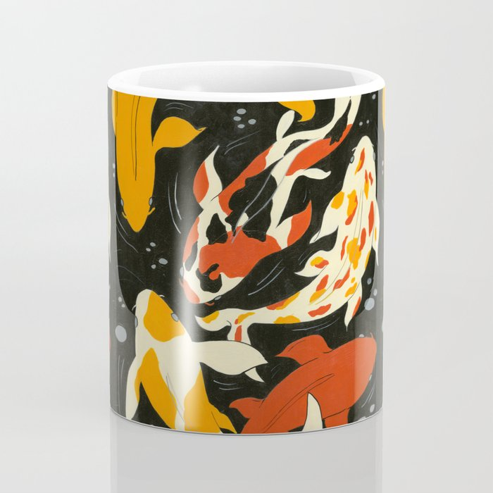 Koi in Black Water Kaffeebecher