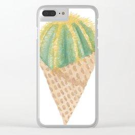 Cactus Scoop Clear iPhone Case