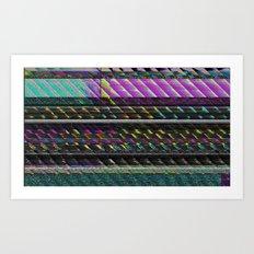 Glitch Nature Art Print
