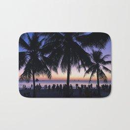 Boracay Island Palm Trees Bath Mat