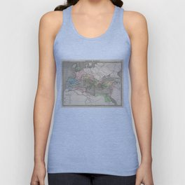 Vintage Map of The Roman Empire (1838) Unisex Tank Top