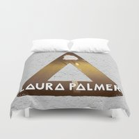 laura palmer Duvet Covers featuring Bastille #1 Laura Palmer by Thafrayer
